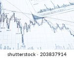showing financial report | Shutterstock . vector #203837914