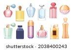 set of perfume bottles ... | Shutterstock .eps vector #2038400243