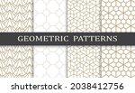 set of arabic seamless patterns.... | Shutterstock .eps vector #2038412756