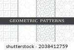 set of arabic seamless patterns.... | Shutterstock .eps vector #2038412759