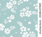 vector floral seamless pattern. ... | Shutterstock .eps vector #2038419989