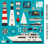 anchor,binoculars,boat,buoy,cap,captain's,collection,compass,cruise,design,divider,element,equipment,flat,gps