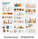 big set of infographics elements | Shutterstock .eps vector #203846944