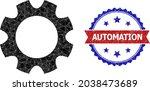lowpoly gearwheel polygonal... | Shutterstock .eps vector #2038473689