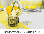 wedding table with decoration | Shutterstock . vector #203851210