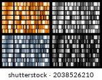 set of black  silver  golden... | Shutterstock . vector #2038526210