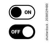switch on and off black and...