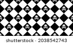 skull crossbones seamless... | Shutterstock .eps vector #2038542743