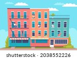 different people living in... | Shutterstock .eps vector #2038552226