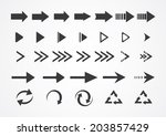 arrows | Shutterstock .eps vector #203857429