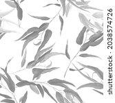 foliage seamless pattern  black ... | Shutterstock .eps vector #2038574726