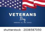 veterans day  november 11 ... | Shutterstock .eps vector #2038587050
