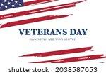 veterans day  november 11 ... | Shutterstock .eps vector #2038587053