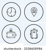luggage services icons choose...   Shutterstock .eps vector #2038608986