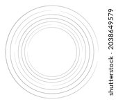cyclical circle  helix  volute... | Shutterstock .eps vector #2038649579