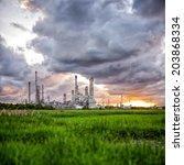 oil refinery at sunrise | Shutterstock . vector #203868334