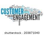 word cloud with customer... | Shutterstock . vector #203871040