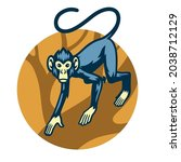 monkey mascot at the forest | Shutterstock .eps vector #2038712129