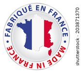 made in france. vector product... | Shutterstock .eps vector #203871370