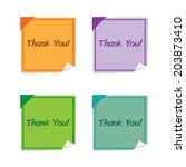 vector   set of thankyou on... | Shutterstock .eps vector #203873410