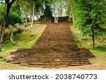 Sukhothai   Stairs Up To Wat...