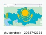 browser window with map of...