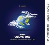 world ozone day creative concept | Shutterstock .eps vector #2038746413