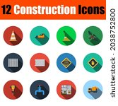 construction icon set. flat...