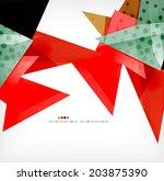 vector 3d geometric shape... | Shutterstock .eps vector #203875390