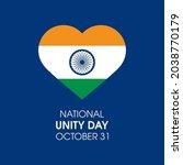 national unity day rashtriya... | Shutterstock .eps vector #2038770179