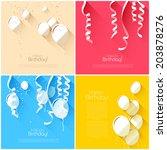 vector set of flat style... | Shutterstock .eps vector #203878276