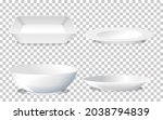 set of white plain plate side... | Shutterstock .eps vector #2038794839