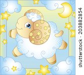 fairytale sheep vector... | Shutterstock .eps vector #203882854