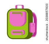 green school backpack vector... | Shutterstock .eps vector #2038857833
