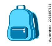 school backpack vector cartoon... | Shutterstock .eps vector #2038857836