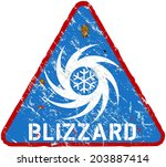 blizzard warning sign  heavy... | Shutterstock .eps vector #203887414