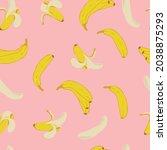 summer banana seamless pattern.... | Shutterstock .eps vector #2038875293