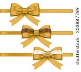 colorful gift bows with ribbons | Shutterstock .eps vector #203887789