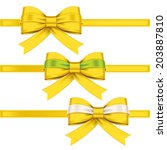colorful gift bows with ribbons | Shutterstock .eps vector #203887810