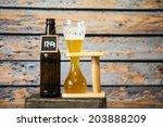 cold craft beer  | Shutterstock . vector #203888209