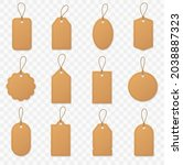 set blank paper price tags or... | Shutterstock .eps vector #2038887323