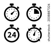 timers icon set. countdown... | Shutterstock .eps vector #2038887326