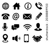 set contact icons. collection... | Shutterstock .eps vector #2038889933