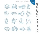 marine life related icons....   Shutterstock .eps vector #2038890389