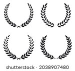 set black silhouette circular... | Shutterstock .eps vector #2038907480