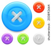 set of 6 color clothing buttons. | Shutterstock .eps vector #203892664