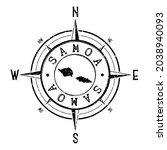 samoa stamp map compass... | Shutterstock .eps vector #2038940093