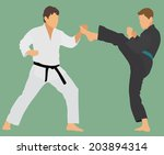 karate sparring | Shutterstock .eps vector #203894314