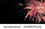 decorative autumn background... | Shutterstock .eps vector #2038954136