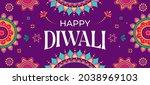 happy diwali hindu festival... | Shutterstock .eps vector #2038969103